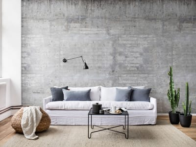 Wall Mural R15001 Wooden Concrete image 1 by Rebel Walls