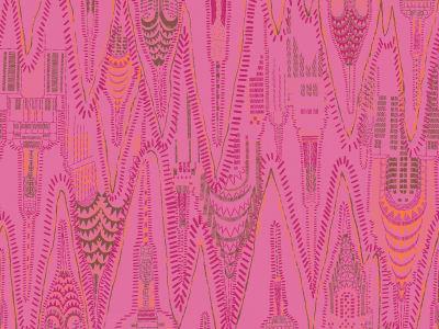 Wall Mural R17963 Manhattan, Hot Pink image 1 by Rebel Walls
