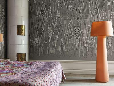 ミューラル壁紙 R17962 Manhattan, Graphite 画像 1 by Rebel Walls
