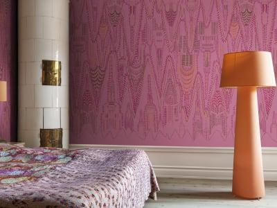 뮤럴 벽지 R17963 Manhattan, Hot Pink 이미지 1 레벨월스