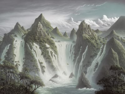 Décor Mural R17352 Fantasy World, Dusk image 1 par Rebel Walls