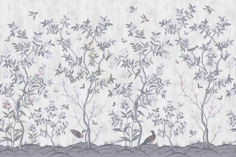 Chinoiserie Chic Pearl Gray R16741 Rebel Walls Nz