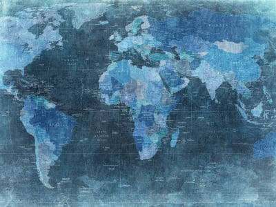 Décor Mural R10773 World Map, blue image 1 par Rebel Walls