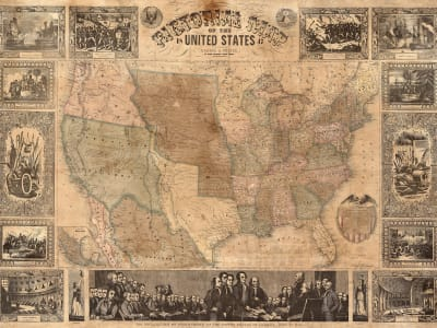 Wall Mural R11431 Pictorial Map of the U.S. image 1 by Rebel Walls