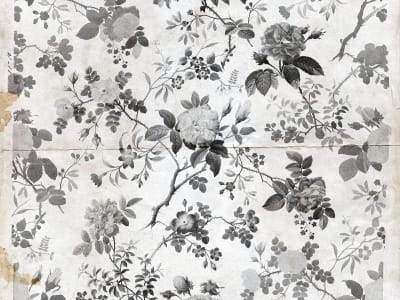 Tapete R13072 Rosegarden, Black Bild 1 von Rebel Walls