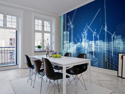 Wall Mural R10291 Cranes image 1 by Rebel Walls