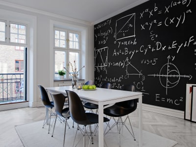 Mural de pared R10311 Black board imagen 1 por Rebel Walls