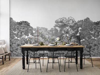 Mural de pared R13053 Bellewood, Black Toile imagen 1 por Rebel Walls