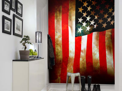 Mural de pared R10751 Stars and Stripes imagen 1 por Rebel Walls