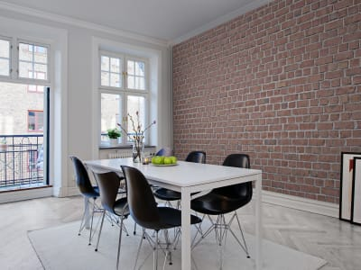 Mural de pared R10961 Brick Wall, red imagen 1 por Rebel Walls