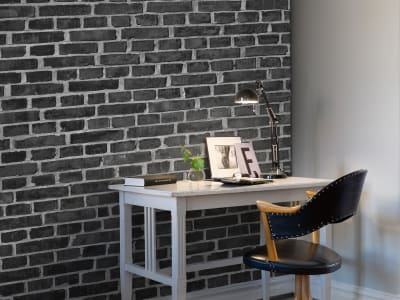 Kuvatapetti R10962 Brick Wall, black kuva 1 Rebel Wallsilta