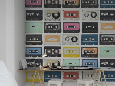 Mural de pared R11042 Mixed Tape imagen 1 por Rebel Walls