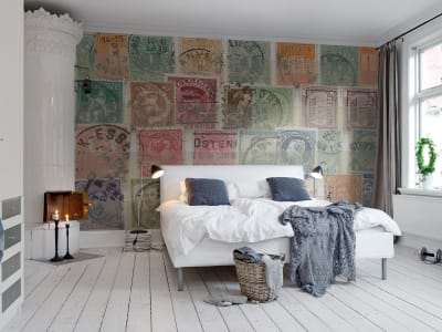 Wall Mural R11081 Philatelist image 1 by Rebel Walls