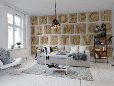 Tapet R11241 Block Letters bilde 1 av Rebel Walls