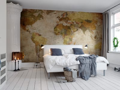 Mural de pared R10771 World Map imagen 1 por Rebel Walls