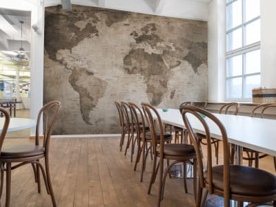 Fototapet R10772 World Map, brown billede 1 af Rebel Walls