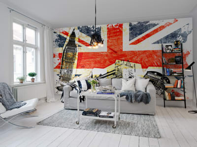 Kuvatapetti R10781 Union Jack kuva 1 Rebel Wallsilta