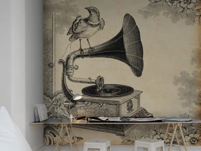 Wall Mural R11801 Gramophone image 1 by Rebel Walls