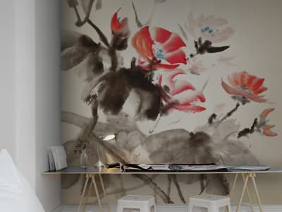 Mural de pared R11951 Asia in Bloom imagen 1 por Rebel Walls