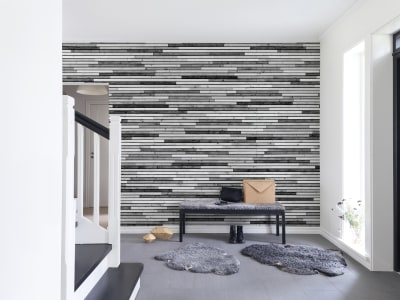 Tapete R12031 Wooden Slats, graphic Bild 1 von Rebel Walls