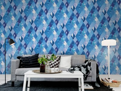 Mural de pared R12232 Harlequin, blue imagen 1 por Rebel Walls
