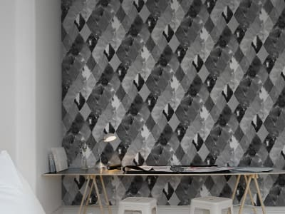 Wall Mural R12233 Harlequin, black&white image 1 by Rebel Walls