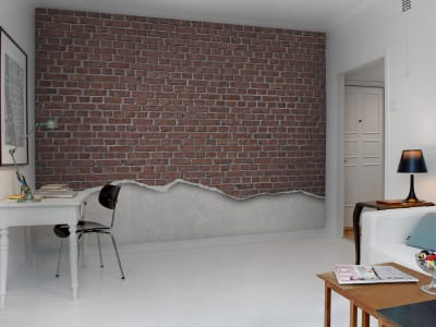Tapet R12221 Well-Worn Brick Wall, red bilde 1 av Rebel Walls