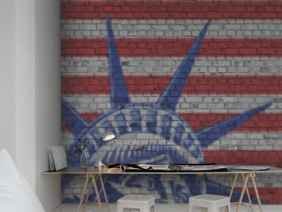 Mural de pared R12251 Bricks of Liberty imagen 1 por Rebel Walls
