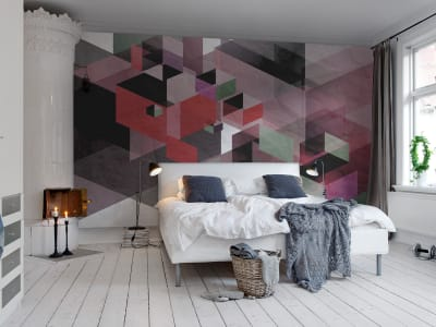 Mural de pared R12313 Fractal, red imagen 1 por Rebel Walls