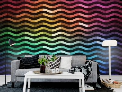 Wall Mural R12411 Rainbowwave image 1 by Rebel Walls