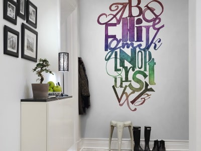 ミューラル壁紙 R12492 Ink Letter, rainbow 画像 1 by Rebel Walls