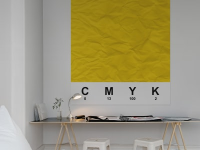 ミューラル壁紙 R12534 CMYK, yellow 画像 1 by Rebel Walls