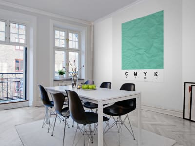 Mural de pared R12533 CMYK, mint imagen 1 por Rebel Walls