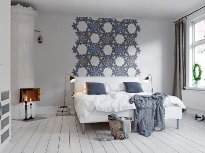 Murale R12561 Floral Border, blue ​​immagine 1 di Rebel Walls