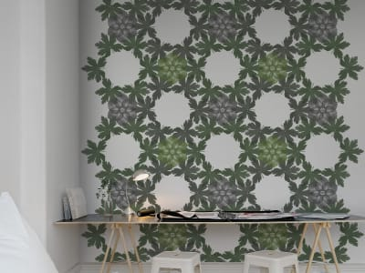 Wall Mural R12562 Floral Border, green image 1 by Rebel Walls