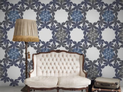 Wall Mural R12561 Floral Border, blue image 1 by Rebel Walls