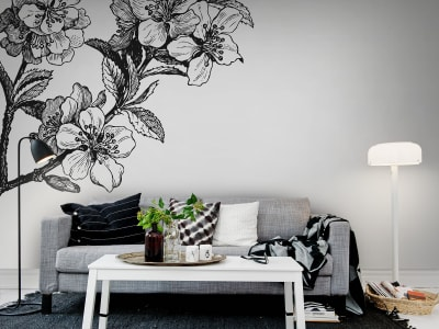 Mural de pared R12652 Springtime, black&white imagen 1 por Rebel Walls