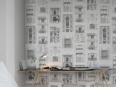 Mural de pared R12732 Architect imagen 1 por Rebel Walls