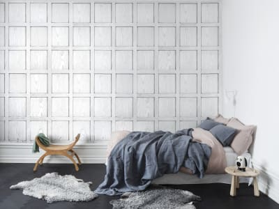 Tapete R12882 Panel, white Bild 1 von Rebel Walls
