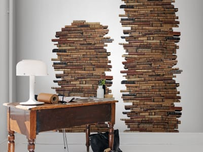 Mural de pared R12911 Vintage Book Pile imagen 1 por Rebel Walls