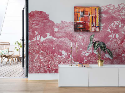 Mural de pared R13056 Bellewood, Crimson Toile imagen 1 por Rebel Walls