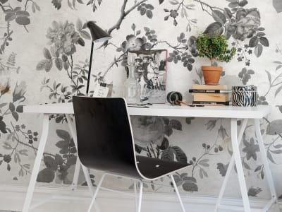 Mural de pared R13072 Rosegarden, Black imagen 1 por Rebel Walls