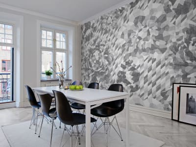 Tapet R13081 Concrete Roses bilde 1 av Rebel Walls