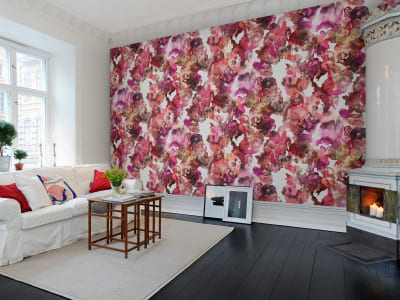 Wall Mural R13123 Lily Pond, Red image 1 by Rebel Walls