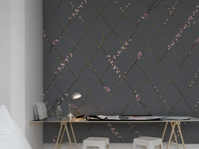 Wall Mural R13222 Winding Spring, Black image 1 by Rebel Walls