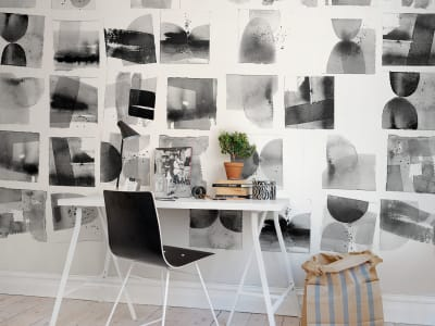 Mural de pared R50302 Landscape Ink imagen 1 por Rebel Walls