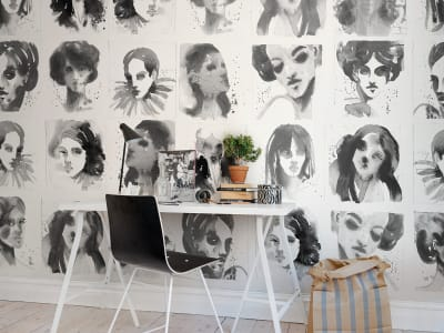 Mural de pared R50306 Girls Ink imagen 1 por Rebel Walls