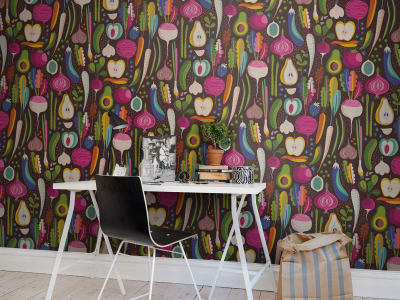 Décor Mural R50801 Fruits & Roots, Black image 1 par Rebel Walls