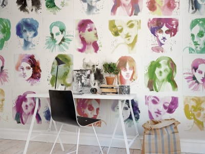 Mural de pared R50307 Girls imagen 1 por Rebel Walls