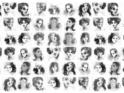 Tapete R50306 Girls Ink Bild 1 von Rebel Walls